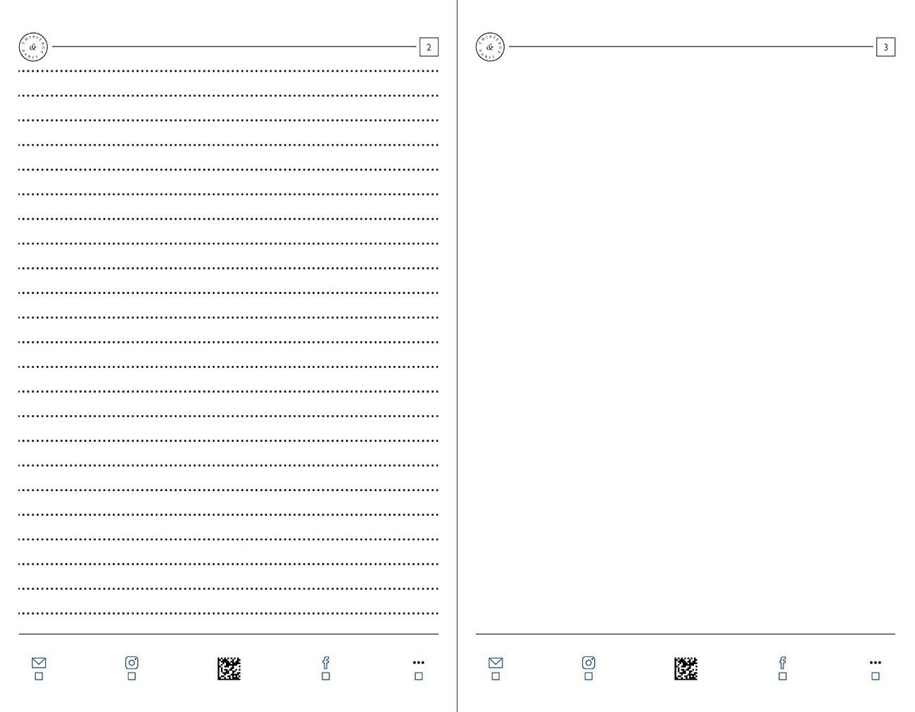 12.19 Pages Lignées 6,5 mm et unies